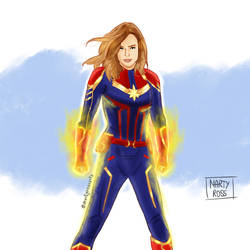Captain Marvel by MartyRossArts