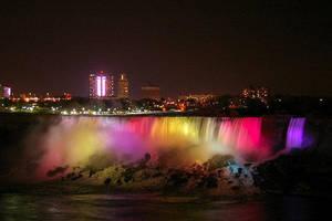 Falls at Night by Ryemm