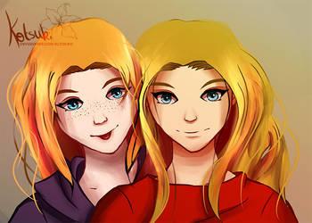 Best friends ~ team blue eyes ! by Kotsukii