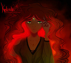 Fire hair by Kotsukii