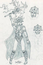 Evil Lyn, looking evil tests by theblock