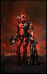Serious Aged Deadpool by Gottsnake