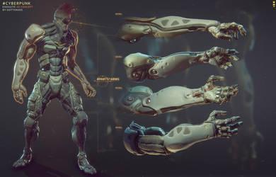 Cyber-punk arms by Gottsnake