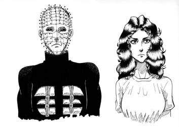 Hellraiser manga sketches by Art-Gem