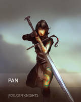 Pan, the Forlorn Knight - Character Concept by Brollonks