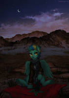 Behind the desert by Margony