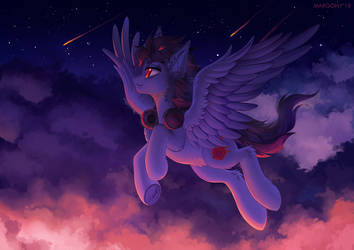 Through the clouds by Margony