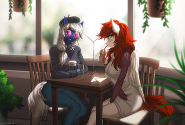 Morning coffee by Margony
