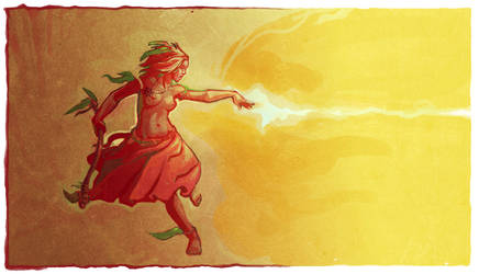 felix's wild witch girl by DawnElaineDarkwood