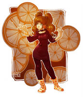oranges by DawnElaineDarkwood