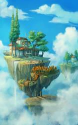 float islands by DawnElaineDarkwood