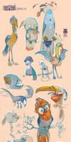 Skizzensammlung Vogel by DawnElaineDarkwood