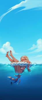 a swim by DawnElaineDarkwood
