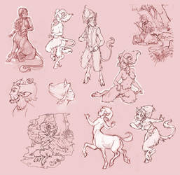 satyrs and others by DawnElaineDarkwood