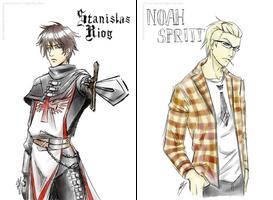 Chrono Soul - portraits : Riog et Noah by Mokolat