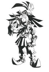Majora's Mask - BW by Taxicab-Messiah