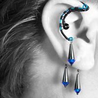Capri Blue ear wrap v2- SOLD by YouniquelyChic