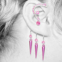 Pink Ear Wrap v2- SOLD by YouniquelyChic