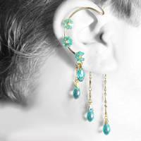 Aqua Crystal ear wrap- SOLD by YouniquelyChic