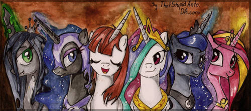 Alicorn party :D by Antych