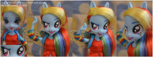 EQUESTRIA GIRLS Rainbow Dash doll repaint by Antych
