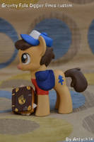 GRAVITY FALLS Dipper Pines pony custom by Antych
