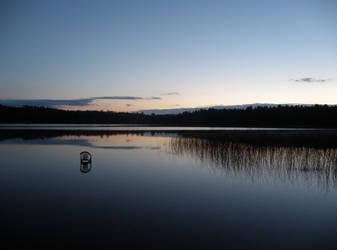 sunset in Finland by Tiiuliina