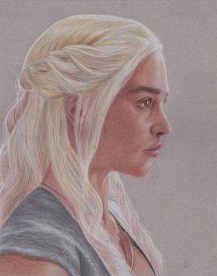 Emilia Clarke as Daenerys Targaryen by Lacrymosakma