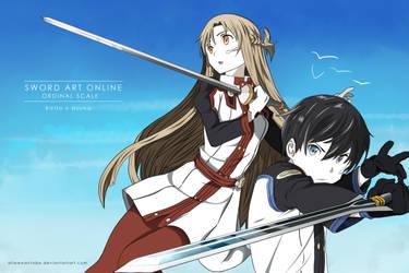 Kirito and Asuna (Sword Art Online: Ordinal Scale) by allwewanttobe