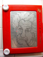 Albert Einstein Etch-a-Sketch by Capital-J