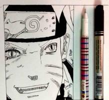 Naruto Uzumaki ink Work  by Studiolifeinc