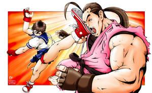 Sakura vs Dan _ Haru Ranman by dymartgd