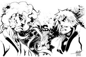 Afro Samurai VS Violent Ken by dymartgd