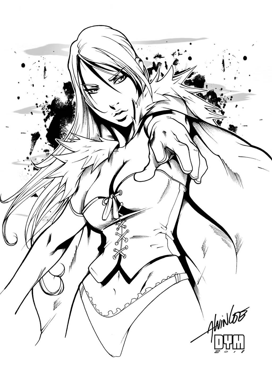 Emma Frost INK by dymartgd