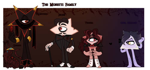 Triangulum : Snazzy goth family and a bonus gay by Nye-Eclipsion