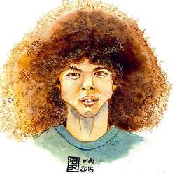 Afro-hair-portrait-201405 by derfx2