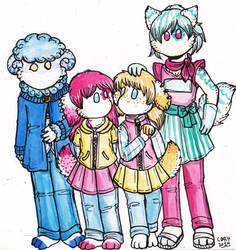 Pastel Four GELFs by Dollmancer