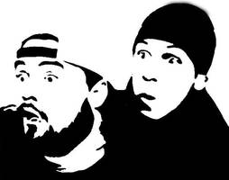 Silent Bob and Jay by GraffitiWatcher
