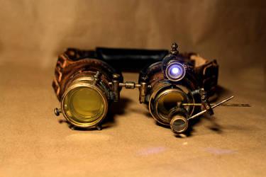Steampunk goggles Naos by Thousandform