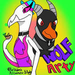 Arty and Wolfy Ship art  by TheUndeadAlchemist