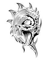 Snake tattoo by lisak007