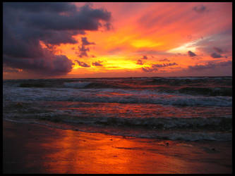 sunset and the Baltic Sea 1 by Eikka