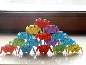 Origami crabs by prusce