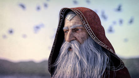 Wizard By The Sea by armieri
