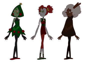 Festive Pearls Adoptables (2/3 OPEN) by hiide0us