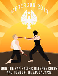 Jaegercon2013 Poster by mercscilla