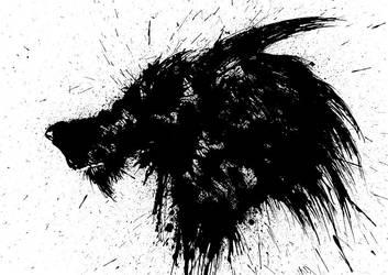 Wolf Head by BryanLedford-Ink