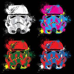Warhol Troopers by BryanLedford-Ink
