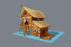 fisherman's house by Merryminder