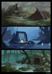 swamp sketches by Merryminder